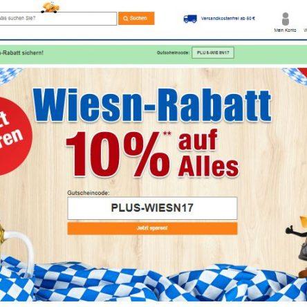 """10 % Plus.de Gutscheincode """"Wiesn-Rabatt"""""""