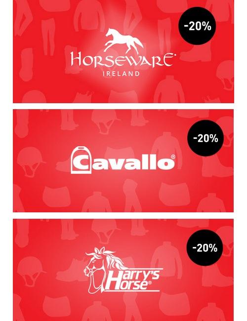 20 % Rabatt auf Horseware, Cavallo und Harry's Horse Produkte