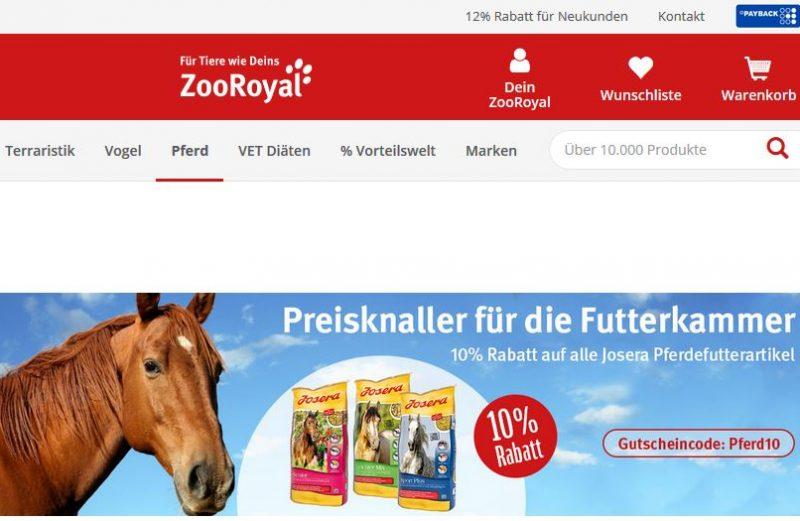 ZooRoyal Gutscheincode Josera Pferdefutter
