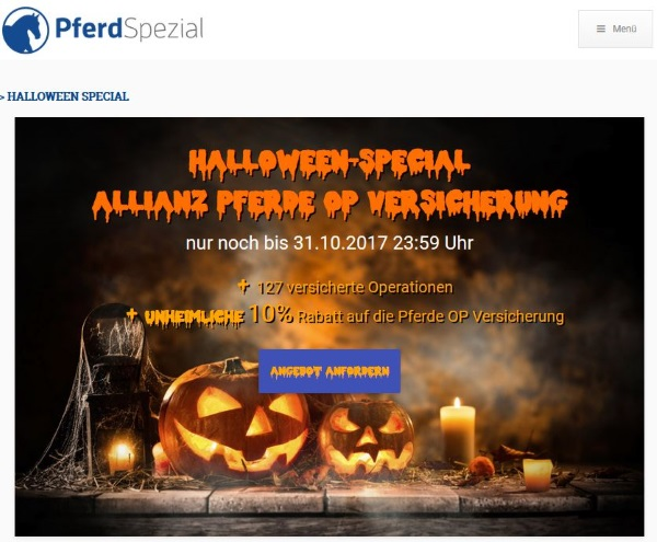 Halloween Special Allianz Pferde OP Versicherung