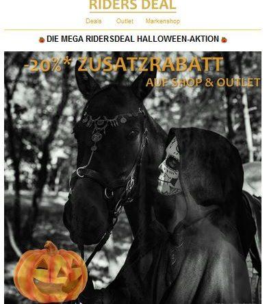 RidersDeal Halloween-Aktion: 20 % Zusatz-Rabatt