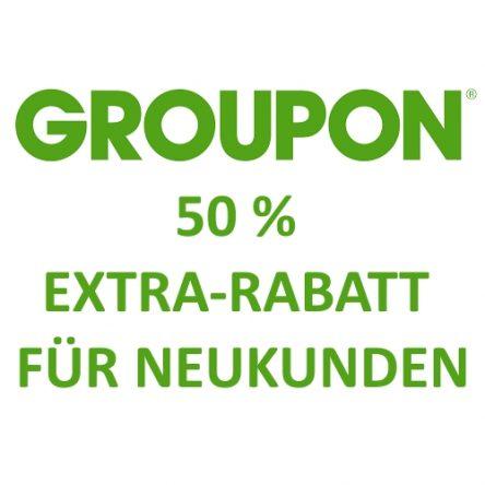 GROUPON: 50 % Extra-Rabatt für Neukunden