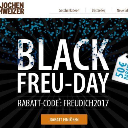 BLACK FREU-DAY bei Jochen Schweizer – 50 Euro Rabattcode