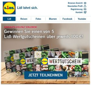Lidl Gewinnspiel Einkaufsgutscheine