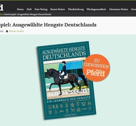 """Mein Pferd Gewinnspiel: 3x ein Buch """"Ausgewählte Hengste Deutschlands"""""""