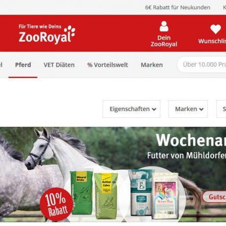ZooRoyal Gutscheincode: 10 % Rabatt auf Pferdefutter von Mühldorfer & Eggersmann