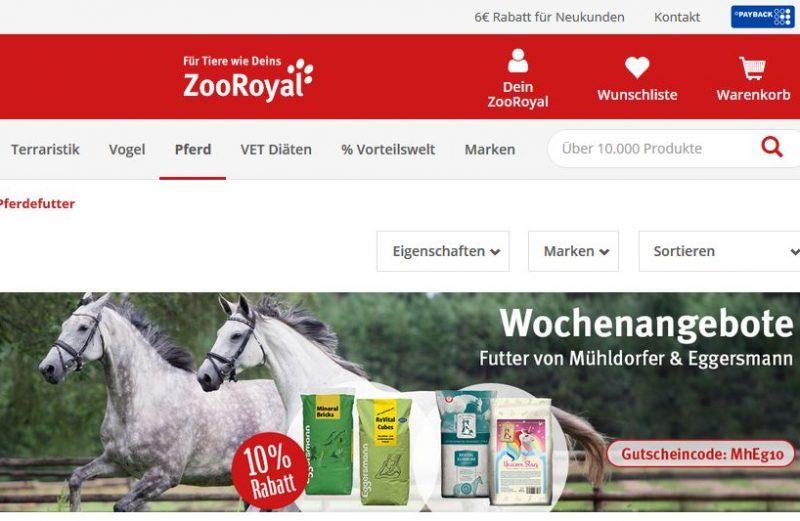 ZooRoyal Gutscheincode Mühldorfer & Eggersmann Pferdefutter