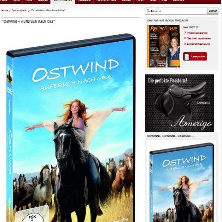"""Reiter Revue verlost 5x eine DVD """"Ostwind – Aufbruch nach Ora"""""""