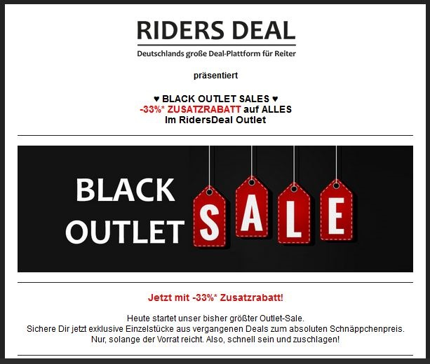 Black Friday Sale bei RidersDeal