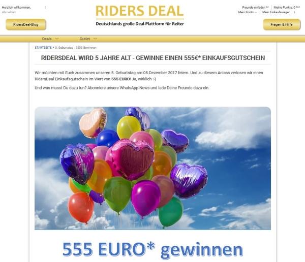 RidersDeal Gewinnspiel 5 Jahre