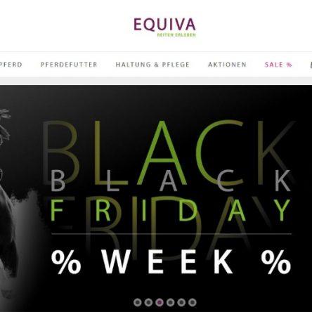 Black Friday Week bei EQUIVA – Pferdezubehör und Reitbekleidung reduziert