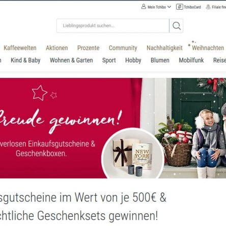 Tchibo Weihnachtsgewinnspiel: 20 Einkaufsgutscheine à 500 € zu gewinnen