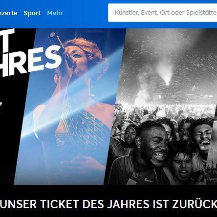 """500 € ticketmaster Gutschein zu gewinnen -Wähle das """"Ticket des Jahres"""""""
