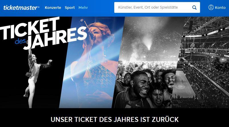 Ticket des Jahres Ticketmaster