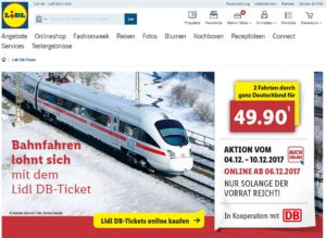 Lidl Bahn-Tickets