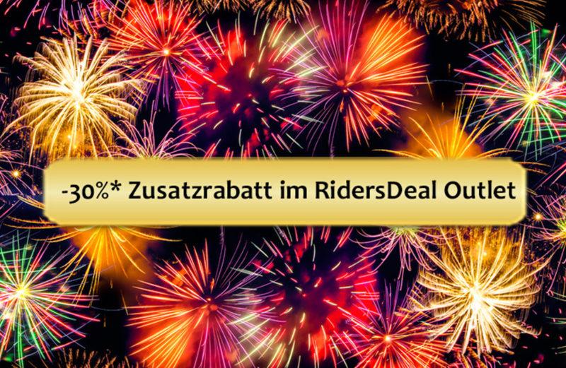 RidersDeal Schlussverkauf: 30 % auf Alles im Outlet