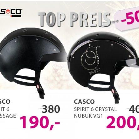 CASCO Reithelme Spirit 6 Dressage und Crystal Nubuk bei EQUIVA 50 % reduziert