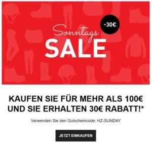 Horze Sonntags Sale 30 € Rabatt Gutschein