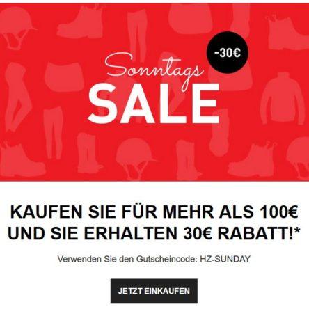 Horze Sonntags Sale: 30 € Rabatt Gutschein
