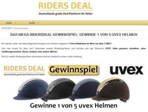RidersDeal Gewinnspiel UVEX Reithelme gewinnen