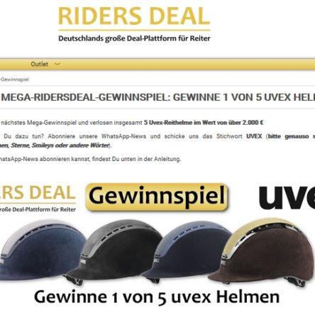 RidersDeal verlost 5x einen UVEX Reithelm