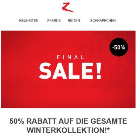 Final SALE bei Horze: 50 % Rabatt auf die gesamte Winterkollektion