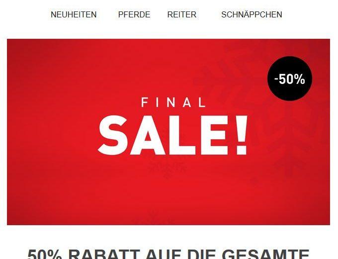 Horze Final Sale 50 % Rabatt auf die Winterkollektion