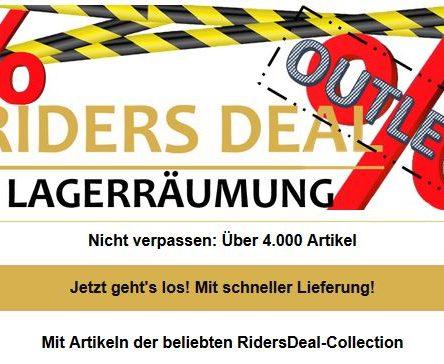 Lagerräumung bei RidersDeal