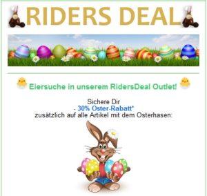 RidersDeal 30 % Zusatzrabatt bei der Ostereier-Suche
