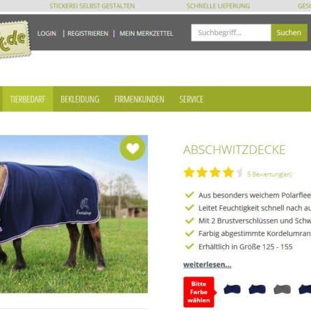 Direkt-Stick.de – 40 % Rabatt auf die Abschwitzdecke in Dunkelblau-Flieder