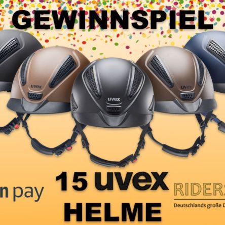 Riders Deal verlost 15 UVEX Reithelme (5 x glamour und 10 x perfexxion II)