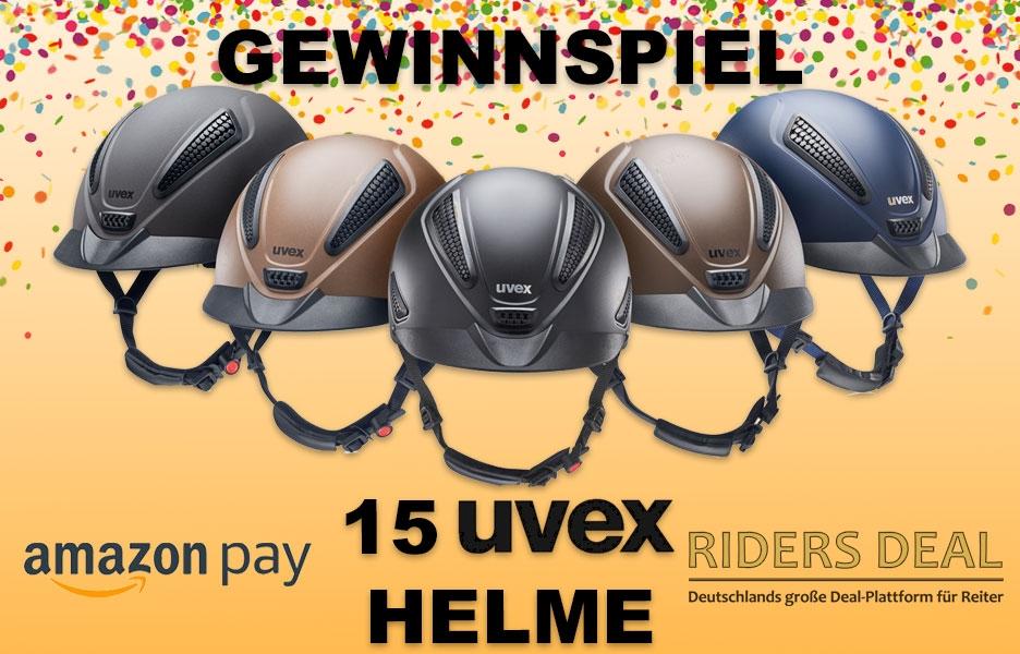 Riders Deal Gewinnspiel Uvex Reithelme amazon pay