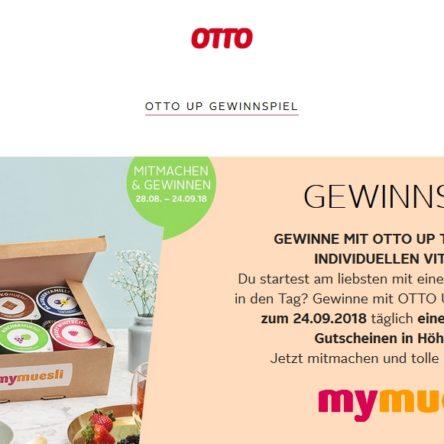 Gewinne mit OTTO UP täglich einen von 5 mymuesli-Gutscheinen