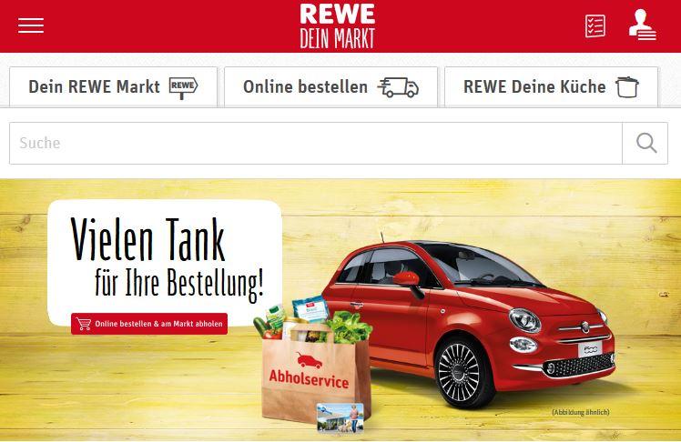 REWE Abholservice - FIAT 500 zu gewinnen