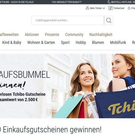 Tchibo verlost 100 Einkaufsgutscheine im Gesamtwert von 2.500 €