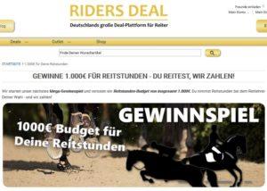 Riders Deal Gewinnspiel Reitstunden