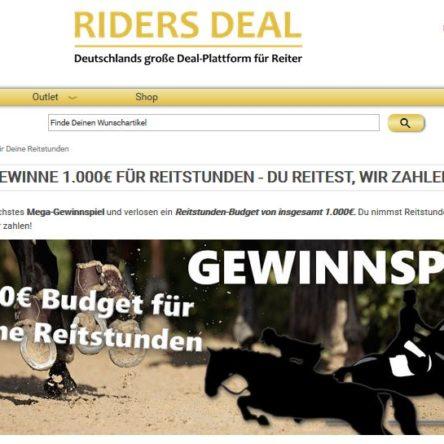 Gewinne 1.000 € für Reitstunden bei Riders Deal