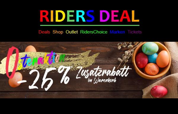 RidersDeal Oster-Aktion 25 % Zusatzrabatt im Outlet