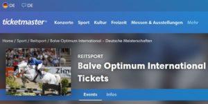 Black Friday Ticketmaster Balve Optimum