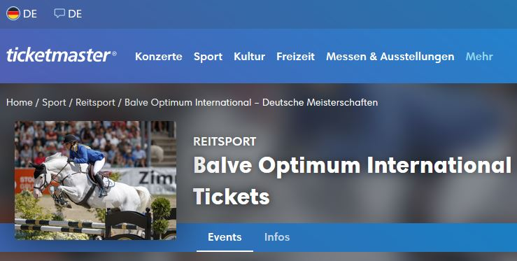 Black Friday Ticketmaster Balve Optimum