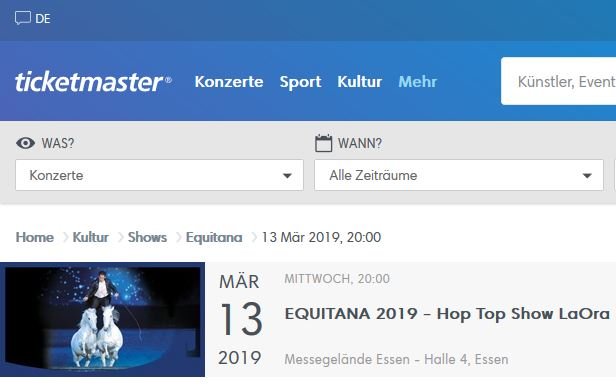 EQUITANA Hop Top Show Black Friday Ticketmaster