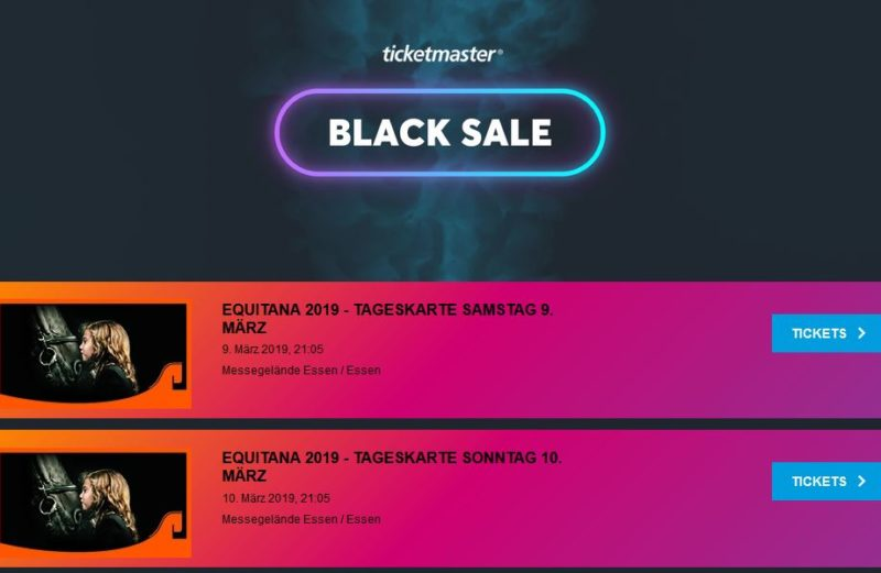 EQUITANA Tickets Black Friday Ticketmaster