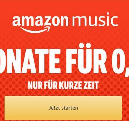 AMAZON Music 3 Monate für NUR 0,99 €