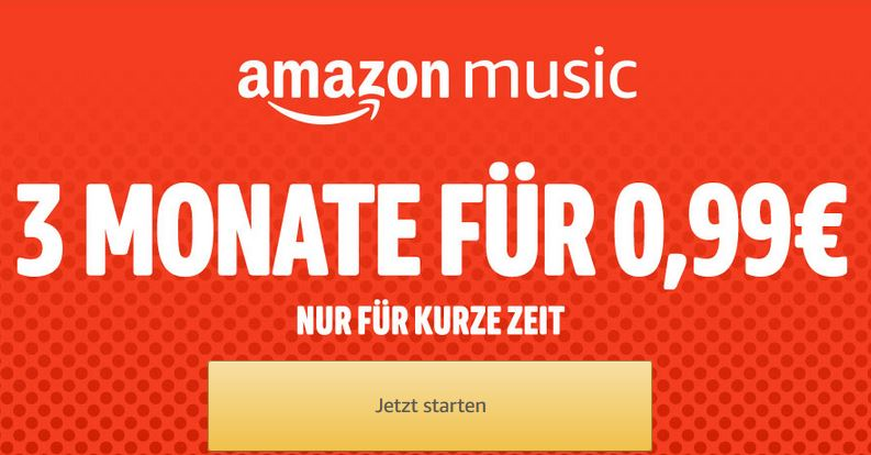 Amazon Music Probeabo 0,99 €