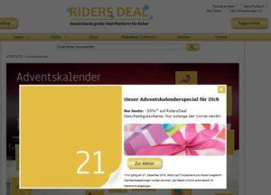 30 % Rabatt auf RidersDeal Geschenkgutscheine