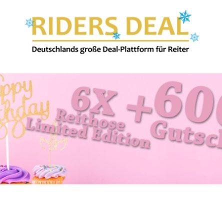 RidersDeal verlost 600 € Einkaufsgutschein & 6 Reithosen