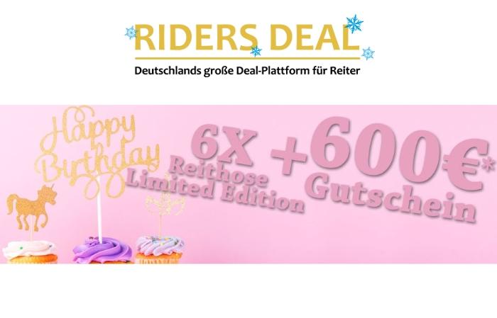 RidersDeal Gewinnspiel zum Geburtstag