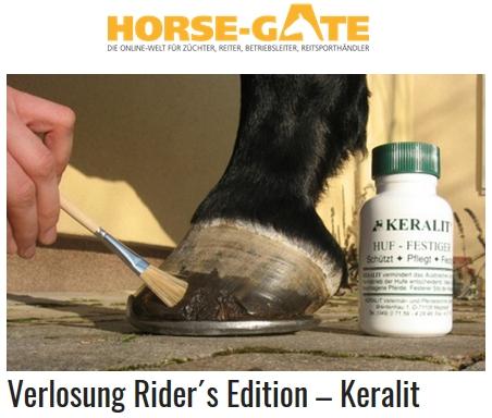 Horse Gate Verlosung Keralit Huffestiger