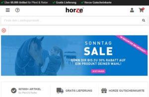 Horze Sonntags-Sale bis zu 30 % Rabatt