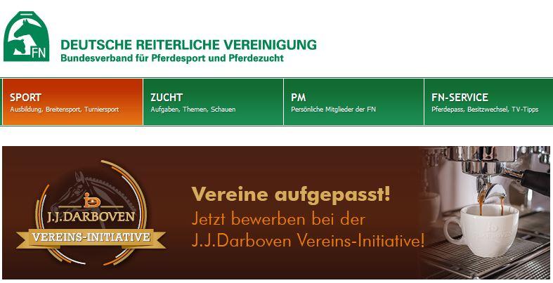 J. J. Darboven Vereins-Initiative Sponsoring Kaffee für Reitvereine